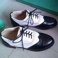 2015 Hot venda planos da bailarina Fhoes para as mulheres Color Block Oxford sapatos baixos casuais mocassins Lace Up sapatos pretos sapatos mulher