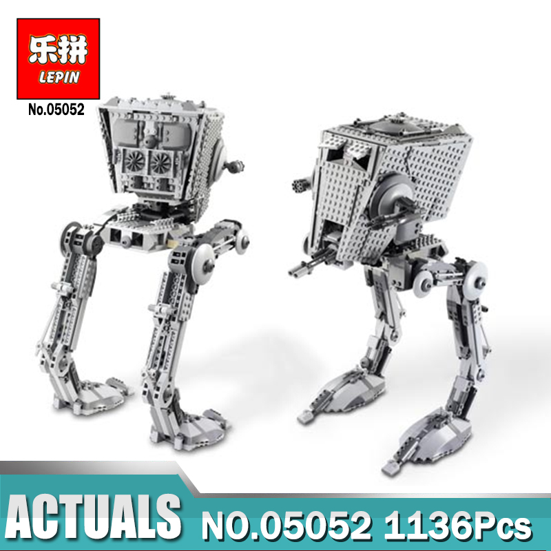Lepin 05052 Compatible with Legon 10174 Star Series Wars Out of print AT set ST Building Blocks Bricks Boys Toys Children Gifts star wars boys black