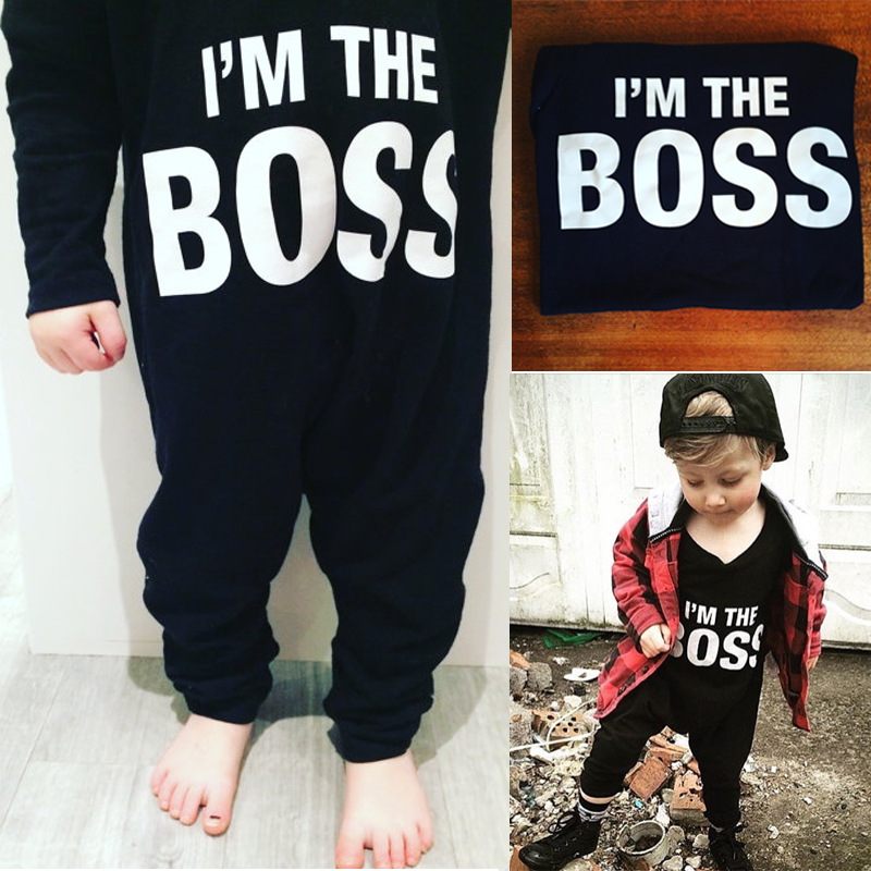 Boss baby boys girls rompers long sleeve boys spring autumn rompers clothes newborn baby rompers jumpsuit black 0-24 months 1