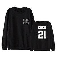 ALIPOP Kpop EXO CBX GIRLS Album Hoodie K POP Casual Cotton Hoodies Clothes Pullover Printed Long