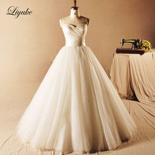 Elegant Organza and Tulle Sleeveless A-Line Wedding Dress Pleat Lace Up Natural Waistline Vestido De Noiva Bride Dress