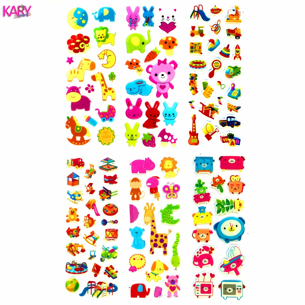 Baby Toys Enlightenment Learning Supplies Pattern Scrapbooking Bubble Stickers 6 Sheets Cute Colorful Emoji For Kids Education 1Baby Toys Enlightenment Learning Supplies Pattern Scrapbooking Bubble Stickers 6 Sheets Cute Colorful Emoji For Kids Education 1
