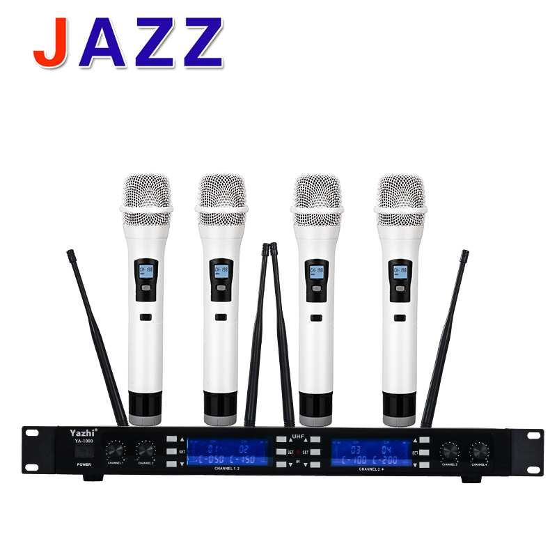 High quality YA-1000 professional, U section anti whistle wireless microphone, stage performance, conference host, KTV