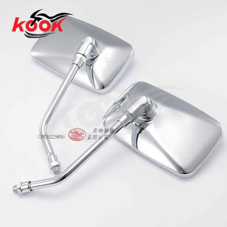 silver motorbike rearview mirror for yamaha Harley Davidson motorcycle side mirror moto reav view motocross ATV Off-road moto