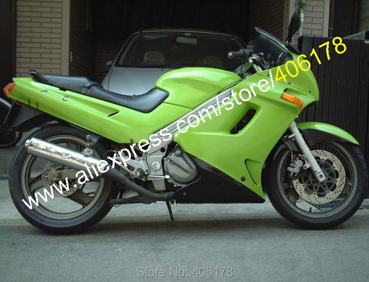 Hot Sales,Body Kit For Kawasaki ZZR-250 90-07 ZZR250 ZZR 250 1990-2007 Green Black bodywork Aftermarket Motorcycle Fairing Kit