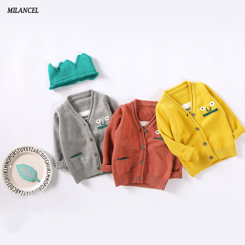 Milancel Baby Sweaters New 2017 Autumn Cartoon Baby Girls Boys Sweater Kids Knitted Sweater Baby Casual Cardigans Boys Sweater