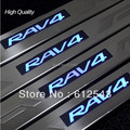 freeshipping! For Toyota RAV4 2007 2008 2009 2010 2011 2012 2013 car styling LED door sill decoration scuff plate cover guards