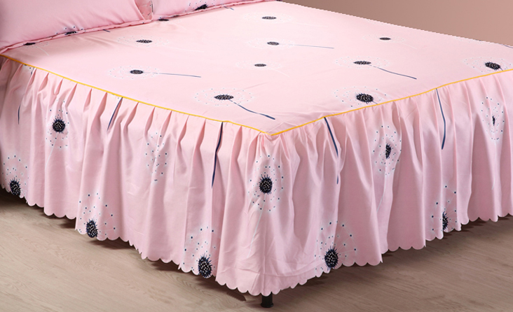 1 Piece Bed skirt bed sheets King Queen Twin size Pink bed sheet     1 Piece Bed skirt bed sheets King Queen Twin size Pink bed sheet bedding  Lace mattress cover Bedspread