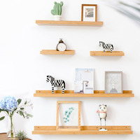 Nordic Fashion Creative Style Solid Wood Shelf Wall Hanging Storage Holder Racks Decorative Grid Organizer Storage Holder Racks
