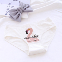 New 4pcs Teenage Flamingos Underpants Young Girl Briefs Comfortable Cotton Panties Kids Underwear B807
