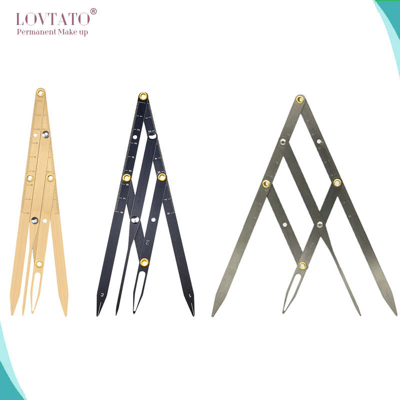 3 Colors Permanent Makeup Eyebrow Ruler Golden Ratio Divider Caliper Microblading Stencil Shaping Tool Tattoo Accessories Supply