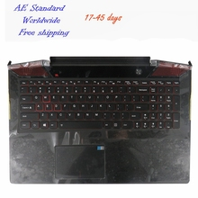 US Laptop Keyboard For Lenovo 15 Y700 15-ISK Black New English Backlight With C shell(China)