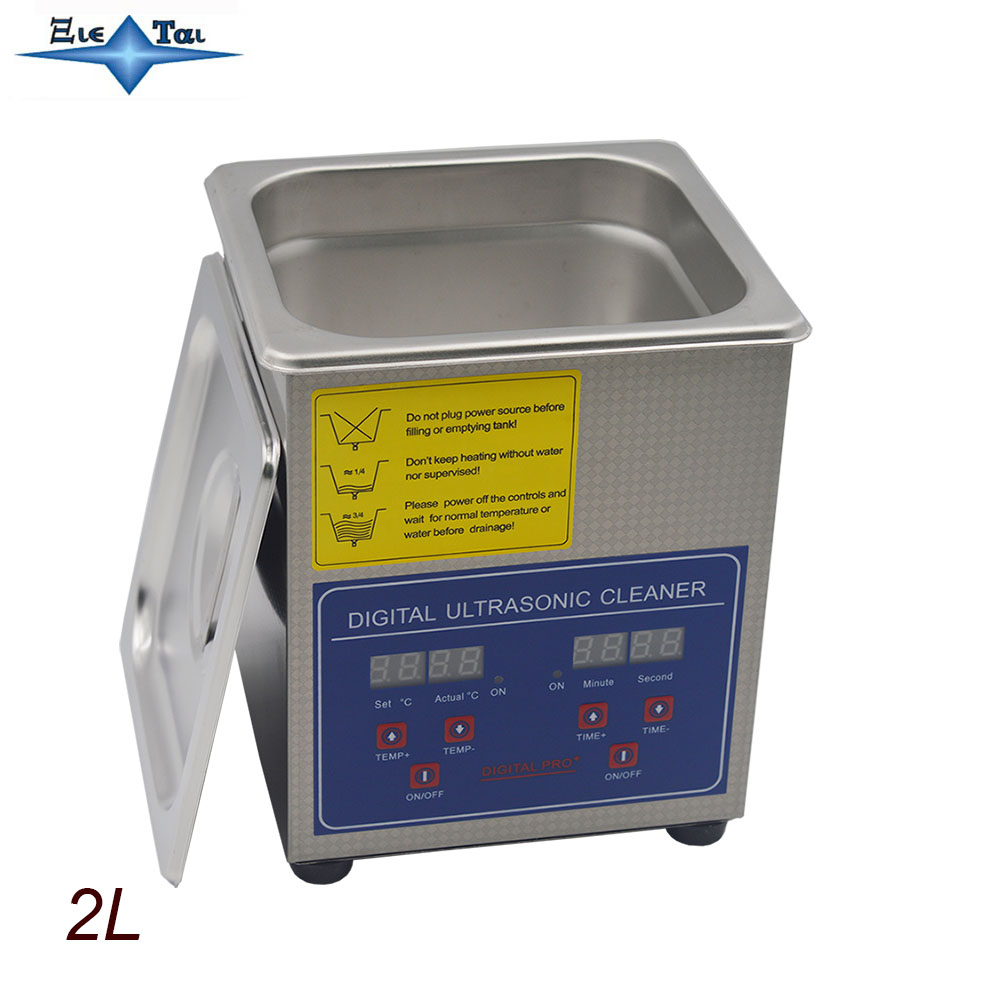 Hot Sale Globe Free Shipping 110V/220V PS-10A  60W Digital  Heated Ultrasonic Cleaner 2L C With   Free Basket