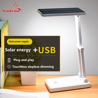 Energy Saving Solar Battery USB Rechargeable Foldable and Adjustable Desk Lamps LED Table Lamp With 24 LEDs Reading Charge lamp