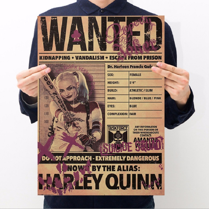 Life classic Hollywood movie/Suicide Squad B/kraft paper/bar poster/Wall stickers/Retro Poster/decorative painting 51x35.5