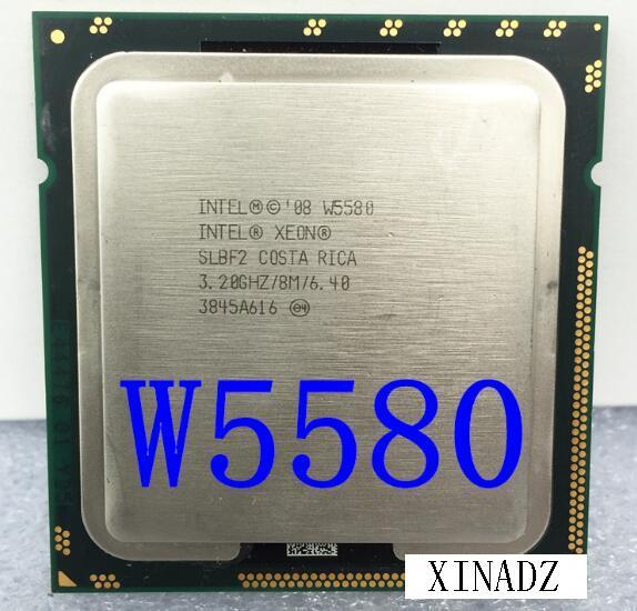 W5580 Quad-Cores CPU 3.20GHZ/8MB LGA1366 SLBF2 CPU Processor wavelets processor