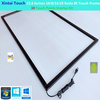 23.6 inch 16:9 Ratio 10 touch points infrared IR Multi Touch Frame / Overlay / Panel with fast shipping(With Glass)
