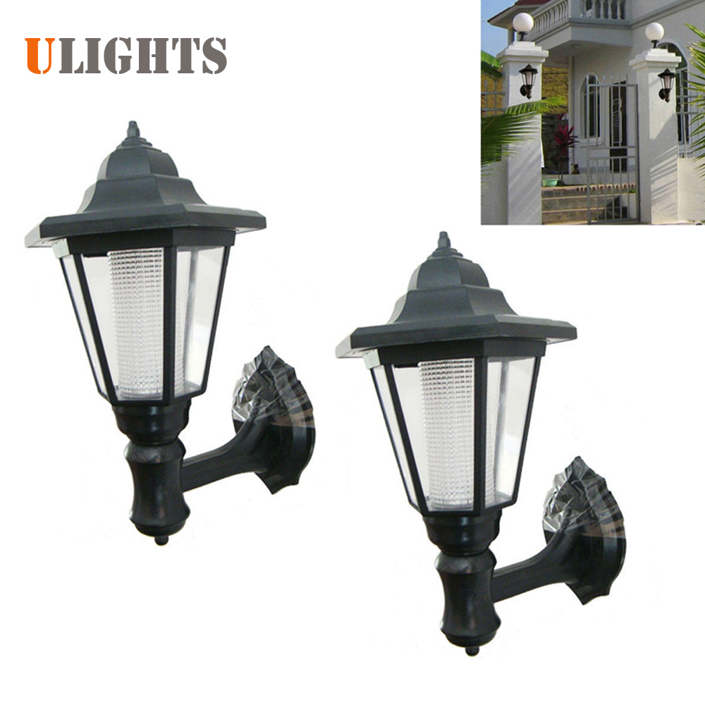 2pcs! Outdoor LED Solar Power Light Energy Saving Super