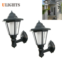 2pcs! Outdoor LED Solar Power Light Energy Saving Super Bright Yard Garden Decoration Path Street Security Wall Hanging Lamp
