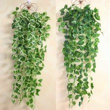 Eco-friendly Artificial Green  Wall mounted Decor Flower Vine Rattan Home Decoration P15