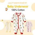 0-12 m algodón underwear bebé recién nacido para niños niñas otoño invierno ropa de manga larga de la historieta ropa de bebé jirafa mono v20