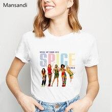 Spice Girls womens T Shirts summer 2019 vogue white tshirt femme harajuku shirt camisetas mujer female t-shirt plus size tops