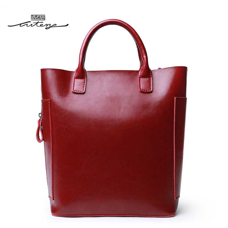 TU-TENG Bags Handbags Women Famous Brands Designer Handbags High Quality Totes Genuine Leather Solid Color Casual Tote G89190
