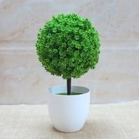 The flower pot set Home Furnishing small ornaments rich tree trees green grass ball decorative flower bonsai flowers