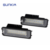 2pcs Set SUNKIA Car LED License Plate Light No Error Canbus 6000k White For Porsche Cayenne