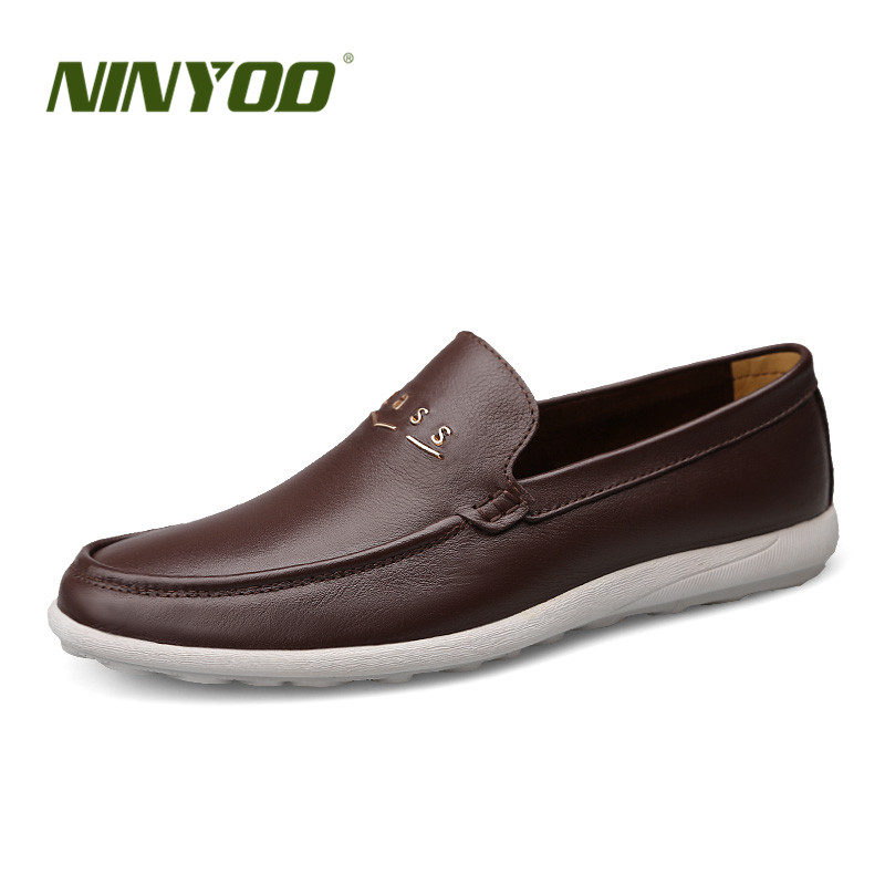 NINYOO Mens Loafers Genuine Leather Shoes Soft Sole Fashion Casual Wearproof Slip-on Driving Moccasins Shoes Plus Size 45 46 47NINYOO Mens Loafers Genuine Leather Shoes Soft Sole Fashion Casual Wearproof Slip-on Driving Moccasins Shoes Plus Size 45 46 47