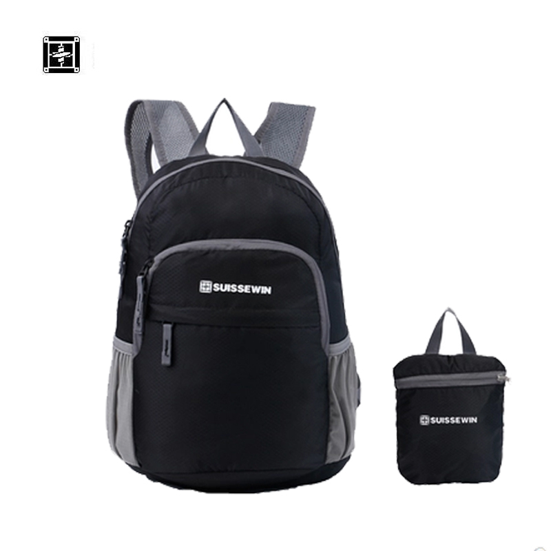 все цены на SUISSEWIN Feminina Mochilas Suissewin Waterproof Backpack Beach Ultra-light Folding Male Women's Bag Storage Travel Snk2308 онлайн