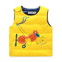 Retail 2016 New Baby Boys Girls Winter Vest Kids Warm Jacket Children Thick Clothes 5 Color