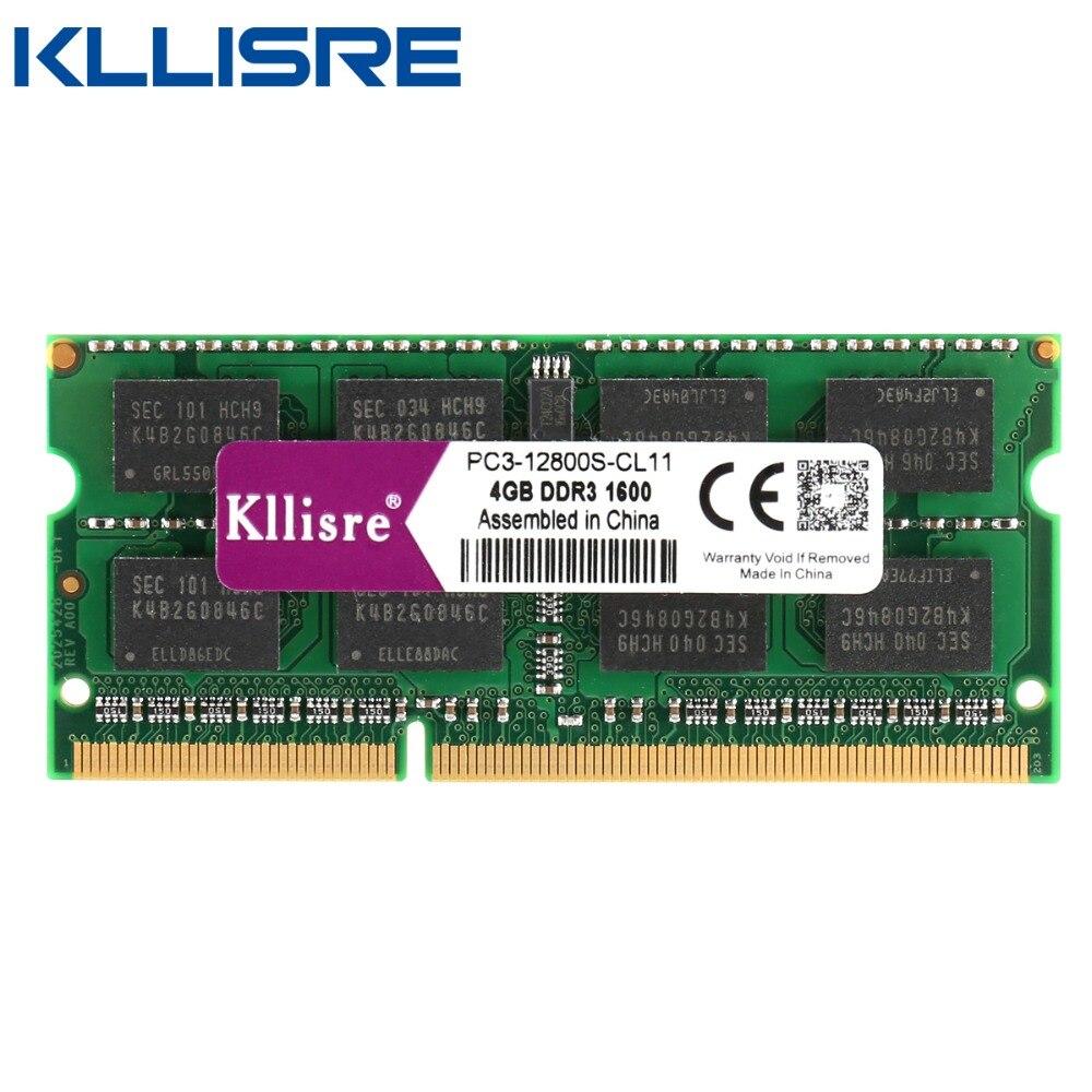 Kllisre DDR3 8GB 4GB dizüstü bilgisayar Ram 1333 1600 DDR3L PC3L 204pin Sodimm dizüstü bilgisayar DDR 3 bellek