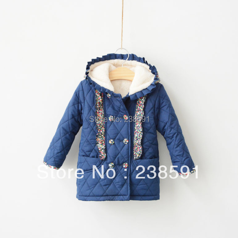 Children's clothing 2014 winter girls cotton-padded jacket child plus velvet wadded baby thick coats kids outwear - Mars zhan's store