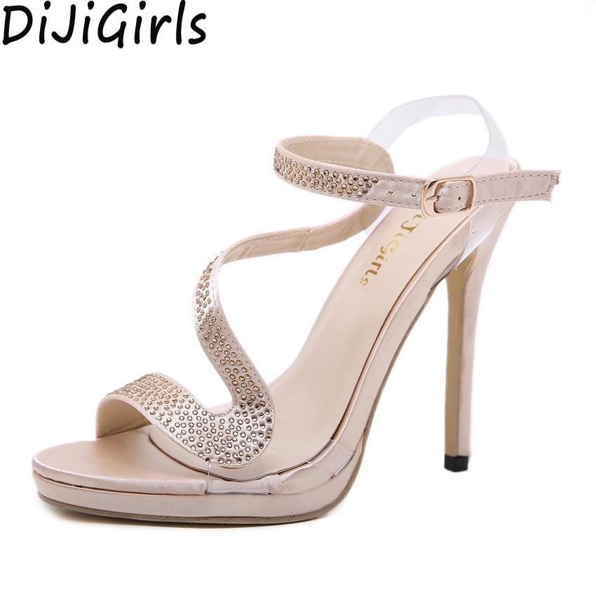Pvc Dijigirls Cristal Mujeres Zapatos Imitación Punta Abierta Boda  Diamantes De Alto Tacón Apricot Plataforma Novia Transparente Sandalias  Claro Correa ... 93ef1d6d67b7