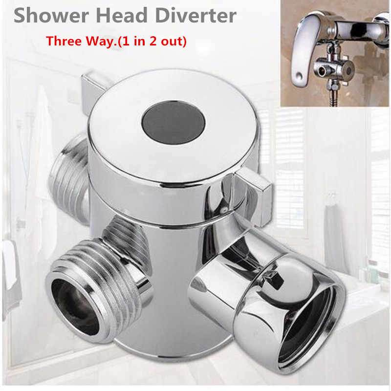 Bathroom Supplies Fixture Faucet Replacement Parts 1/2 Inch Three Way T-adapter Valve For Toilet Bidet Shower Head Diverter 1.7