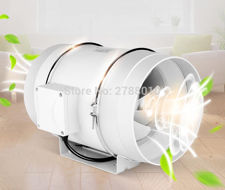 Circular Duct Pipeline Fan  Kitchen Fume Exhaust Fan   Strong Wind Power TD-200E fan window kitchen fume exhaust fan mute shutter blower