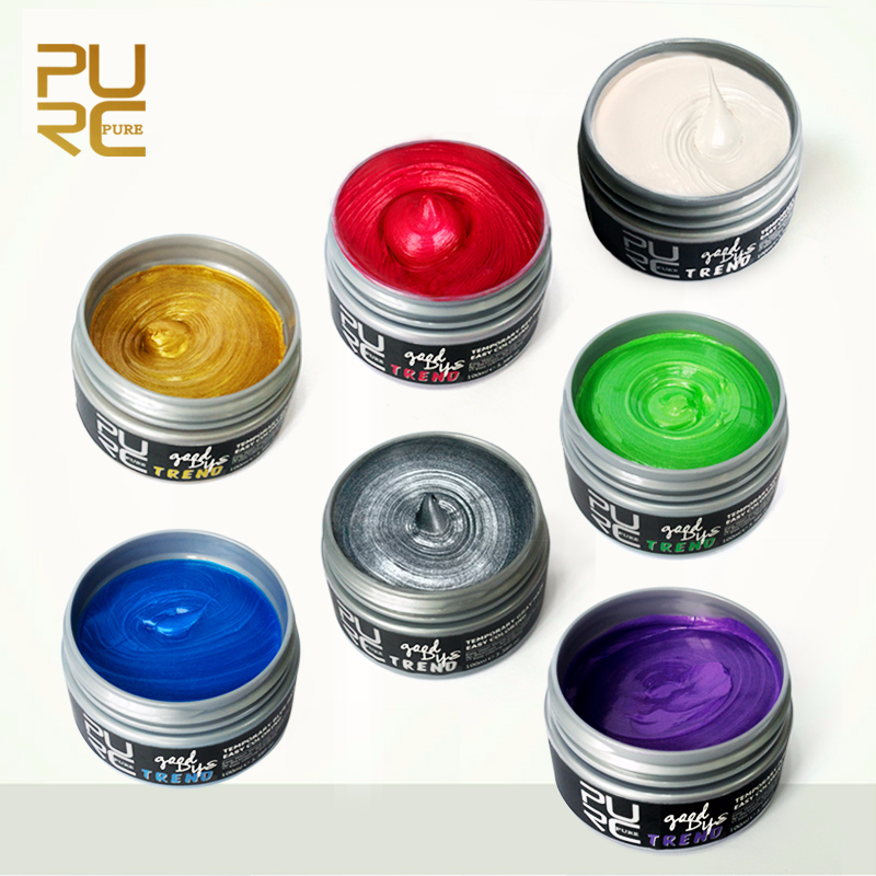 PURC 2018 Hot Selling Good Dye Trend 7 Colors Hair Color 100ml Instrant Hair Dye Wax Fashion Hair Care Hair Styling Products