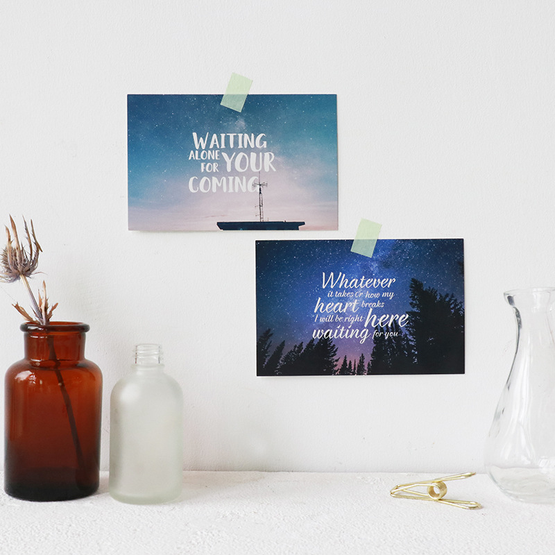 30pcs love send by universe card card multi-use as Scrapbooking party invitation DIY Decoration gift card message card postcard