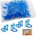 50 Pcs/Bag Cotton Roll Holder Disposable Blue Clip For Dental/Dentist Clinic