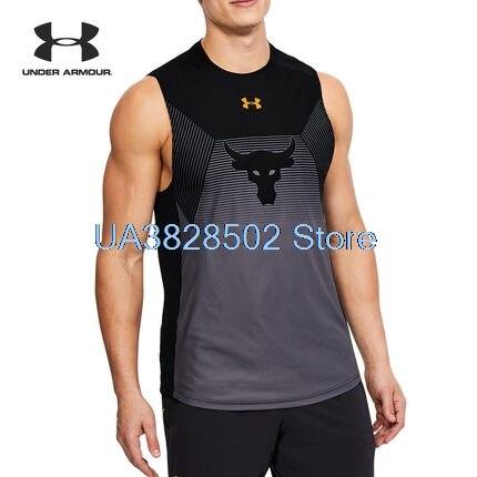 все цены на 2018 New Summer Under Armou Running Vests Tank Mens Sportwear Baselayer Sleeveless Slim Exercise Athletic Top S-3XL онлайн