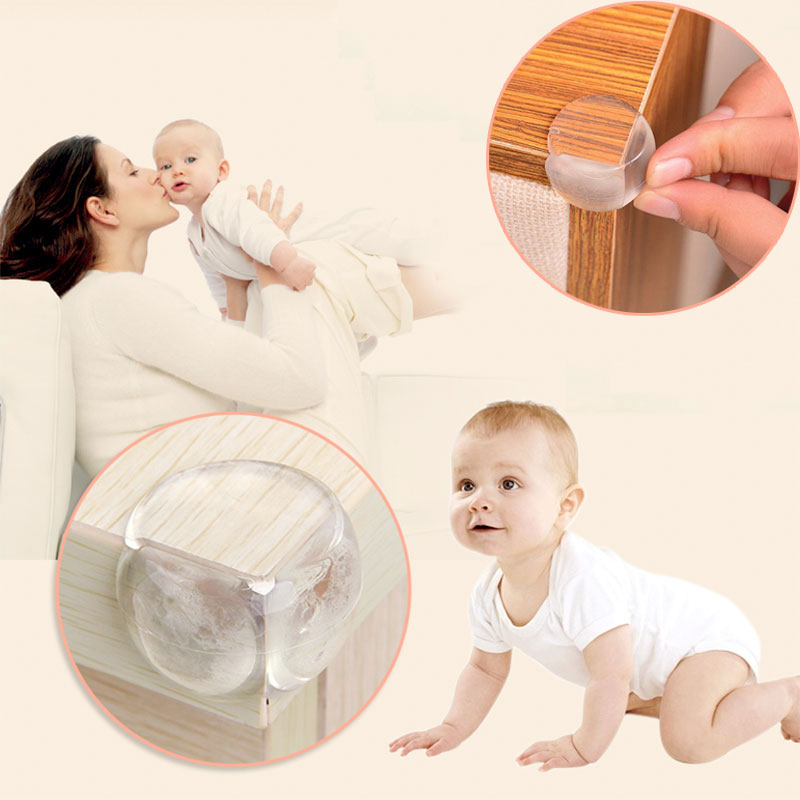 8Pcs/Lot Children Protection Table Corner Baby Safety Silicone Protector Children Safety Edge & Corner Guards Protection