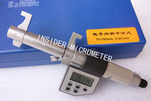 Discount! Free shipping Electronic digital inside micrometer caliper 75-100mm,0.001mm , high quality  internal micrometer