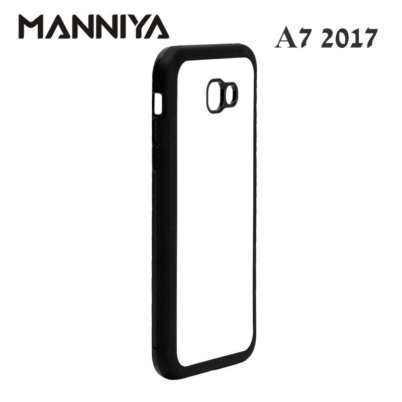 MANNIYA Boş Sublimasiya kauçuk TPU + PC üçün Case Samsung Galaxy - Cib telefonu aksesuarları və hissələri - Fotoqrafiya 3