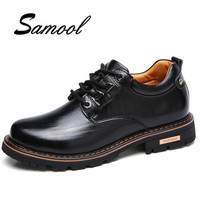 New Hot Spring Retro Style Men Casual Desert Shoes Male PU Leather Outdoor Ankle Martin Man
