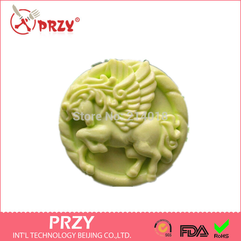 DIY Hot 3D Running horse shape handmade soap mold animal candle molds silicon mould Chocolate Candy Moulds Form of Cake