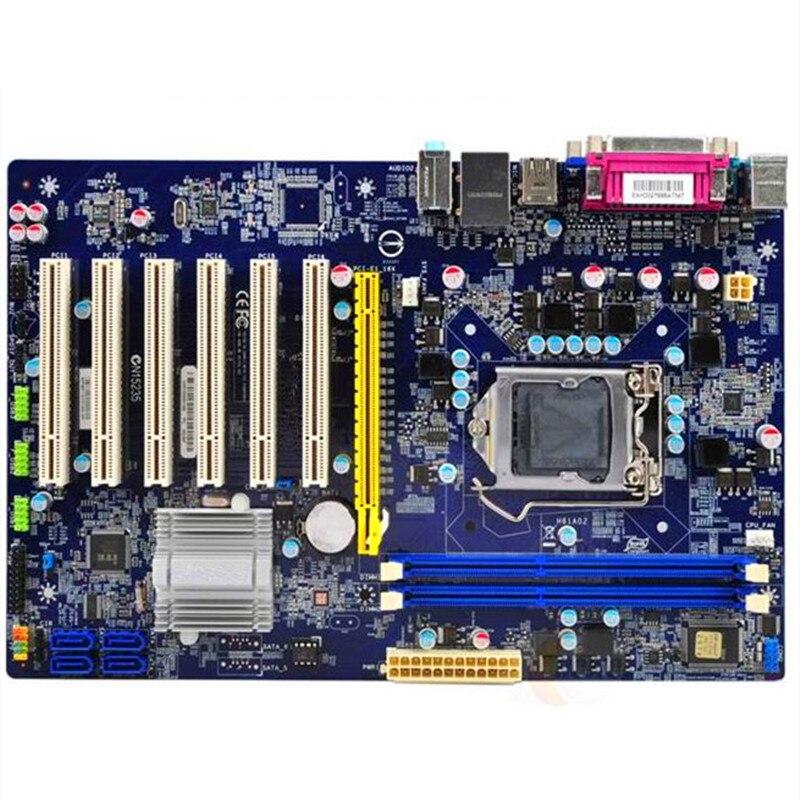 Placa madre H61 Original para Foxconn H61AP DDR3 6PCI, conjunto de monitor industrial de estado sólido