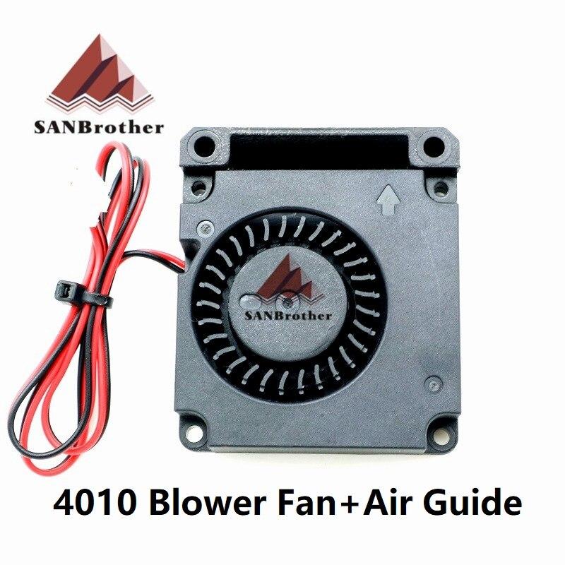 3D Printer Air Guide Turbine Fan 5V/12V/24V 40*10mm 4010 Hydraulic Bearing Blow Radial Extruder Cooling Fan Turbo Fan & 2P Wire