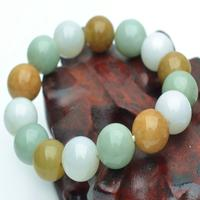 Natural Burmese Jadeite Old Pit Round Bead Bracelet With Male Female Of Paragraph A Three Color