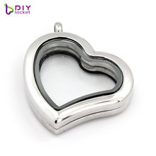 30mm Stainless Steel Heart Twist Floating Charms Locket, Accept customization LSSS013-15-30MM(China)